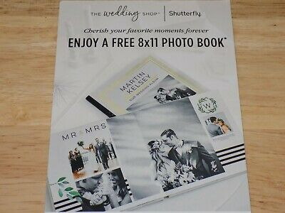 3 Shutterfly The Wedding Shop Free 8x11 Hard Cover Photo Book Code Exp 11/30/19