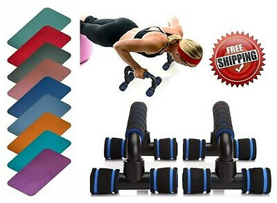 Pull Up Stand Push Up Foam Handles Press Home Exercise Workout Yoga knee Pad