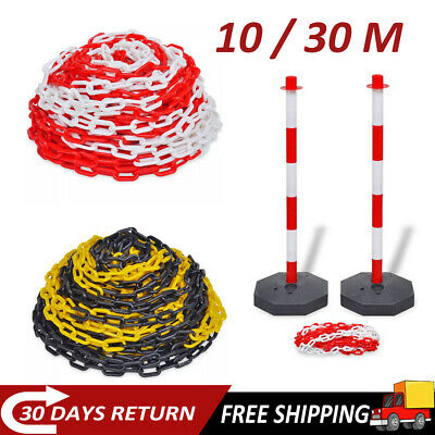Warehouse Caution Safety Barrier 30m Security Warning Chain+10m Chain Post Set