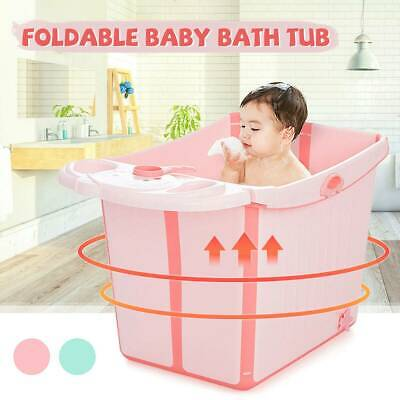 Baby Kids Collapsible Bathing Tub Vertical Large Space Folding Bath Shower Basin
