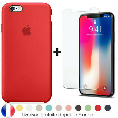 Original Officiel Coque pour iPhone XS Max X XR 8 7 6S 6 Plus+ Film Verre trempé