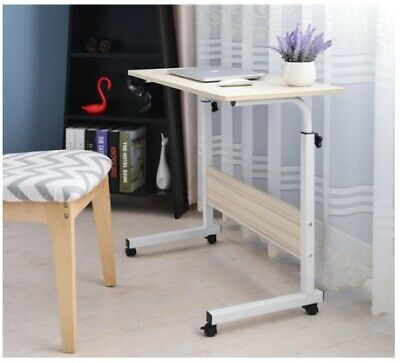 Foldable Computer Desks with roller Laptop PC table Student learning Desk