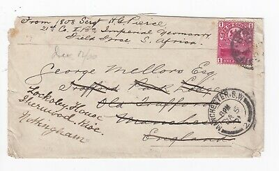 1901 Cape of Good Hope 1st Bn Imperial Yeomanry Soldiers Cover to Manchester