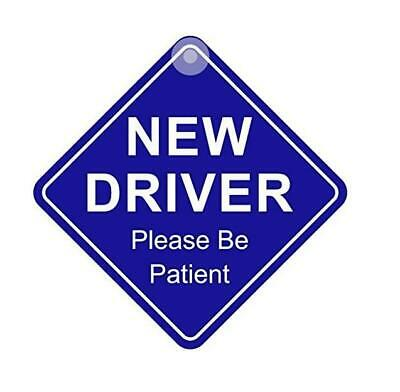 New Driver Please Be Patient Safety Car Display Window Badge Sign Sticker