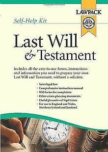 Last Will and Testament Kit by Richard Dew | Book | condition very good