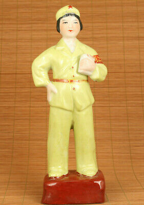 big chinese tradition culture porcelain Cultural Revolution Red Guard statue