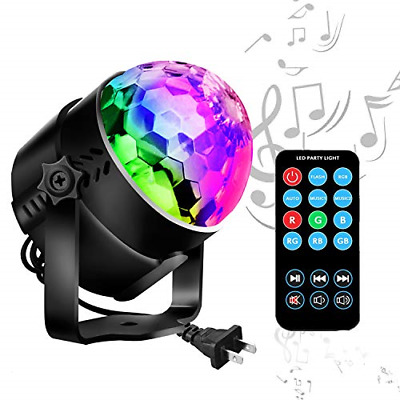 Best Disco Ball LED Party Lights Sound Activated RGB Strobe Modes 7 Color New