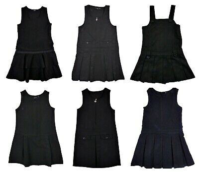 Girls Black Pinafore School Dress Uniform 3 Years up to 11 Years Top Make Exstor