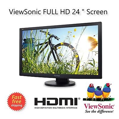 "24"" Full HD HDMI Gaming PC Freesync Monitor Display 1080p LED LCD WIDESCREEN"