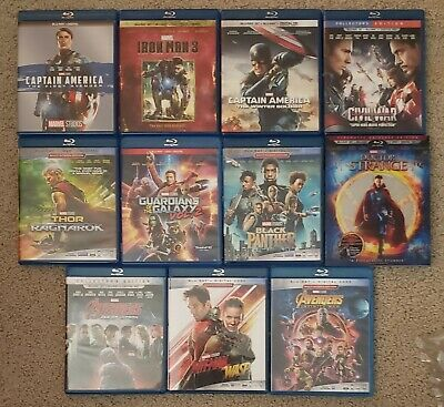 MARVEL COMPLETE CINEMATIC Universe MCU PHASE 1 2 & 3 BLU-RAY 22 Film  Collection