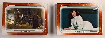 2019 Topps Star Wars Skywalker Saga COMPLETE ORANGE Parallel BASE SET 100 Cards