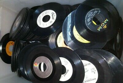 "Crafting Lot of (50) 45's Records Jukebox 7"" 45 RPM vinyl records Juke Box Party"