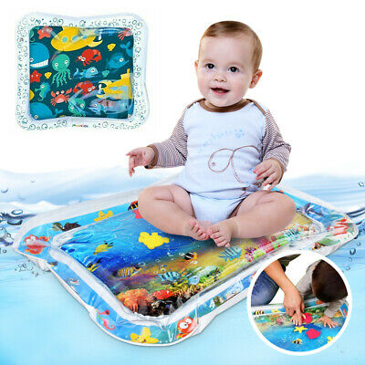 Inflatable Baby Water Mat Novelty Play for Kids Children Infants Tummy Time Fish