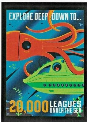 "Disney WONDERGROUND Postcard ""20,000 LEAGUES UNDER THE SEA"" Postcard by Perillo"