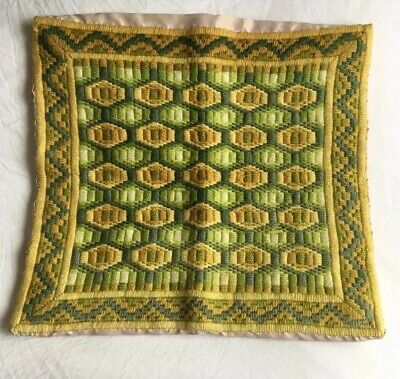Lovely Boho Old VINTAGE  Retro CUSHION COVER Tapestry Wool Needlepoint