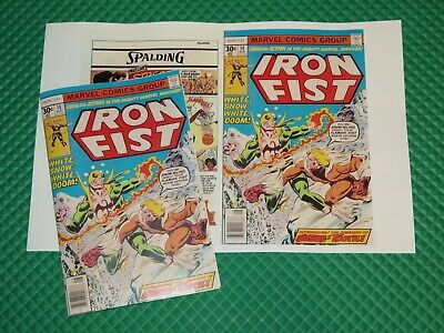 Iron Fist #14 Beautiful Repro Cover Only w/Original Ads 1st App Sabre-Tooth Key