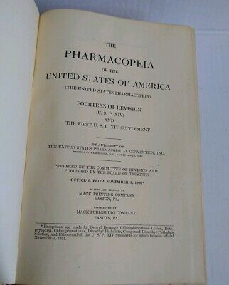 The Pharmacopoeia of the United States of America- Fourteenth Edition-1950