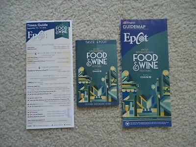 Disney World Epcot Food & Wine Festival 2016 Guide Map, Times Guide, & Passport