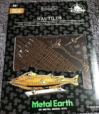 Disney Parks Metal Earth Nautilus 3D Metal Model Kit