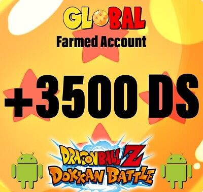⭐️Dokkan Battle - GLOBAL - ⭐️ Farmed + 3000 DS  🌟Android / iOS 🌟