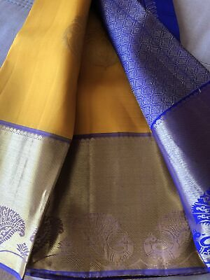 Handwoven Kanjivaram Pure Silk Saree Purple & Gold