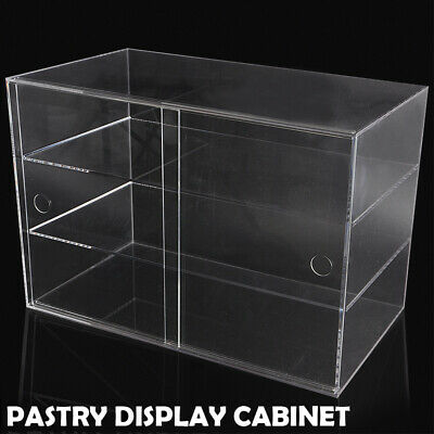 3 Layer Acrylic Bakery Pastry Display Case Cabinet Cakes Donuts Cupcakes Stand