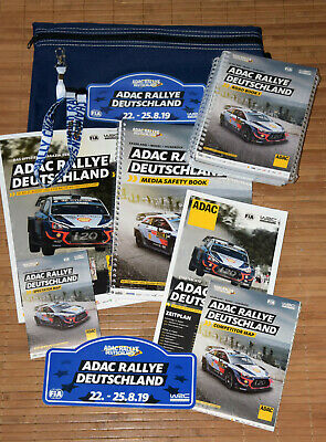 ADAC WRC Rallye Deutschland 2019 Media FanPack • 11 teilig • Roadbooks • Rally