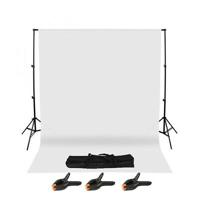 Photography Studio Background Support Stand & White Screen Backdrop Kit & Bag RO