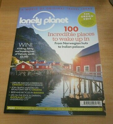 Lonely Planet magazine OCT 2019: 100 Incredible Places to Wake Up, Newfoundland