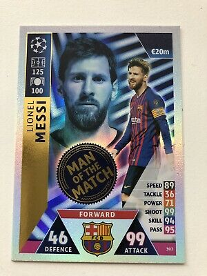 Match Attax Champions League UCL 2018/19 Lionel Messi Man of the Match #397