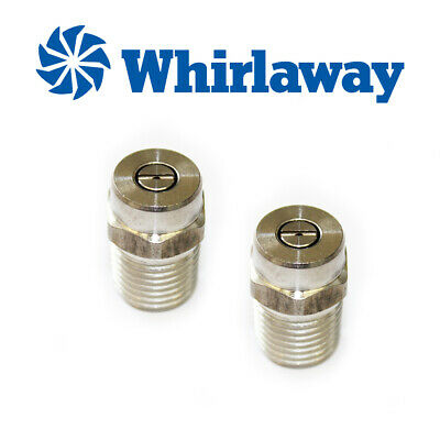 2x Stainless Steel Whirlaway High Pressure Jet Wash Fan Nozzles 25025
