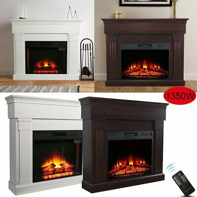 Luxury 1.4KW Electric Fireplace Suite LED Log Fire Burning Flame + MDF GK