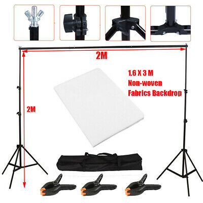 Adjustable Photography Background Support Stand Photo Backdrop Crossbar Kit 2s