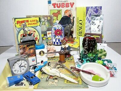 Junk Drawer Lot Eclectic Collectibles Jewelry 24KT On Sterling Medal Vintage