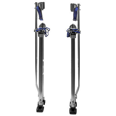 """36"""" - 48"""" Aluminum Drywall Stilts Adjustable for Painting Painter Taping Silver"""