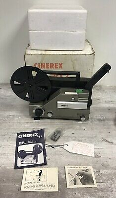 CINEREX 727 DUAL SUPER 8  8mm CINE MOVIE FILM PROJECTOR