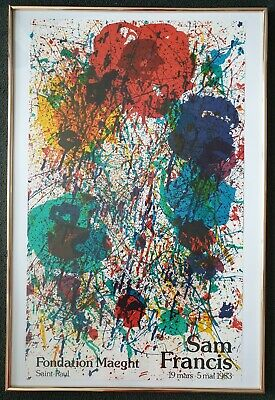 Sam Francis Lithografie Fondation Maeght 1983