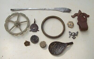 Lot of Eleven Unidentified Objects Medieval and Later Metal Detecting Finds