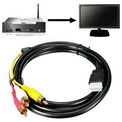 HDMI Male to 3 RCA Audio Video AV Component Cable 1.5M Adapter Lead TV HDTV DVD