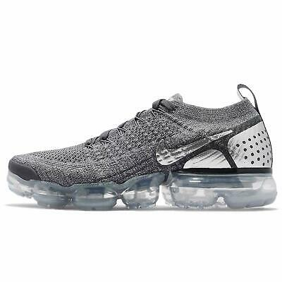 Nike Air Vapormax Flyknit 2 Mens Size 8 Dark Wolf Cool Grey Chrome 942842-014
