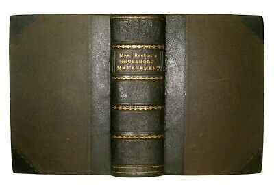1869 Antique Victorian Cookbook Mrs. Beeton Vintage Cookery Recipes Home Family