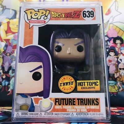 Future Trunks Hot Topic Exclusive Funko POP! Metallic Chase + Stacks Protector