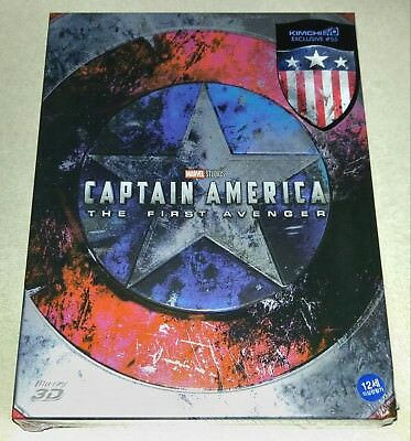 New Captain America First Avenger Blu-ray 3D+2D Fullslip Steelbook™ KimchiDVD