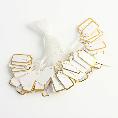 500pcs Price Ticket Tags Labels String Tie Watch Jewelry Clothing Display US