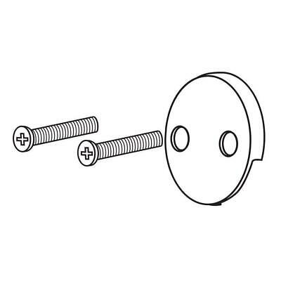 Delta Chrome Overflow Plate and Screws Silver