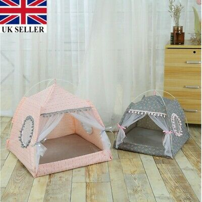 Portable Pet Dog Cats Folding House Tent Puppy Waterproof Indoor Outdoors Teepee