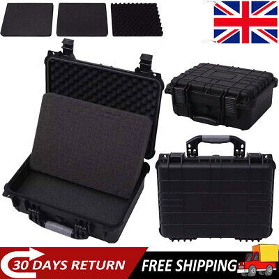 Protective Equipment Hard Carry Case Box Plastic Travel 3 Removable Foam 3 Sizes