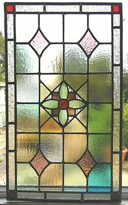 FULLY RESTORED ANTIQUE  STAINED GLASS PANEL - REF SG398 - See my eBay shop.