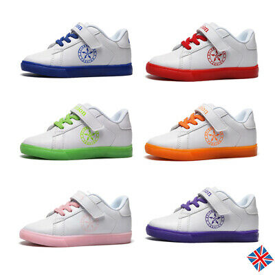 Kids Skate Comfort Shoes Boys Girls Casual School Faux Leather Sneakers Trainers