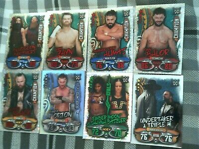Topps Wwe Slam Attax Live X4 Champion + Limited Edition + Shiney Cards Rare